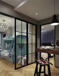 80平米三室两厅田园风格阳光房设计图