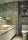 140平米三室三厅美式风格卫生间浴室柜图