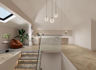 130平米三室两厅现代简约风格阁楼装修图片大全