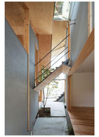 100平米三日式风格楼梯间图