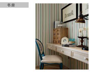 70平米一居室混搭风格书房装修效果图