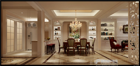 140平米别墅欧式风格餐厅图
