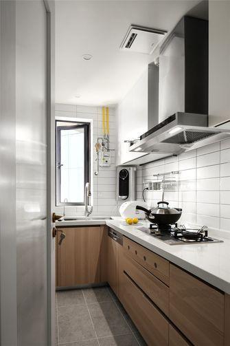 80平米三室两厅田园风格厨房图片
