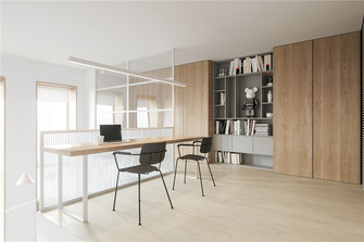 60平米复式现代简约风格书房欣赏图