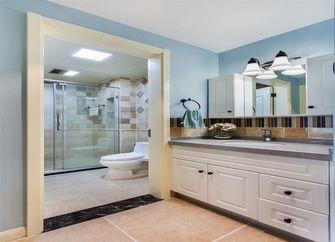 140平米三室一厅田园风格卫生间图片大全