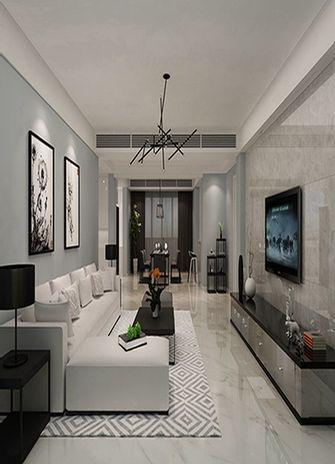 120平米三室一厅现代简约风格客厅装修图片大全