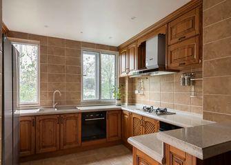 140平米三室一厅田园风格厨房装修效果图