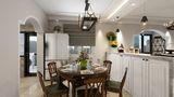 100平米四室一厅美式风格餐厅效果图
