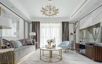 80平米三室两厅混搭风格客厅效果图