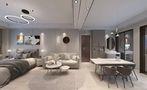 60平米一居室现代简约风格客厅设计图