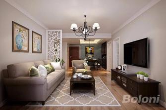 90平米三室一厅美式风格客厅图