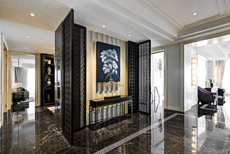 140平米四室三厅法式风格玄关装修图片大全