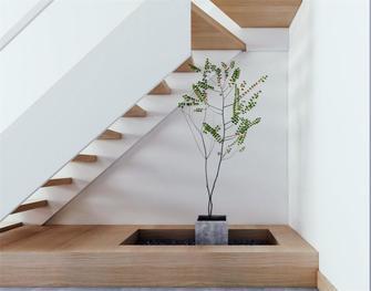 100平米日式风格楼梯间图