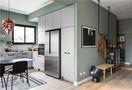 70平米一室一厅田园风格厨房图