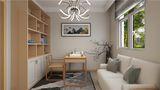 90平米三室两厅日式风格书房图片大全