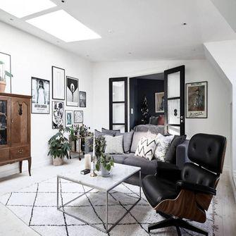 110平米三室三厅美式风格客厅装修图片大全
