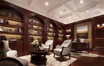 110平米复式美式风格书房橱柜装修效果图