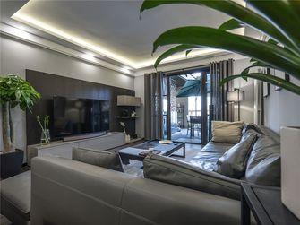 120平米三室三厅现代简约风格客厅效果图