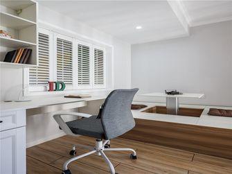 100平米三室一厅田园风格书房设计图