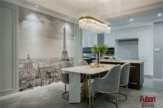 100平米三室一厅英伦风格餐厅图片