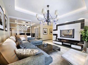 80平米三室一厅英伦风格客厅装修案例