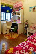 110平米田园风格儿童房图片大全