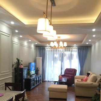 110平米田园风格客厅设计图