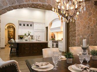 140平米别墅地中海风格餐厅效果图