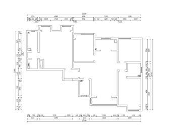 140平米三室三厅中式风格客厅图片