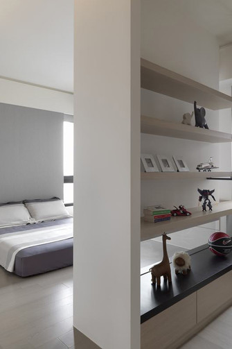 60平米一居室现代简约风格卧室图片大全