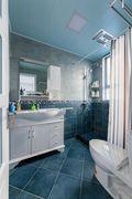 110平米三室两厅田园风格卫生间装修案例