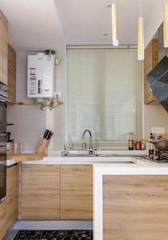 80平米田园风格厨房装修效果图