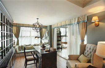 140平米四室五厅美式风格书房欣赏图