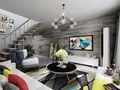 60平米现代简约风格客厅背景墙装修图片大全