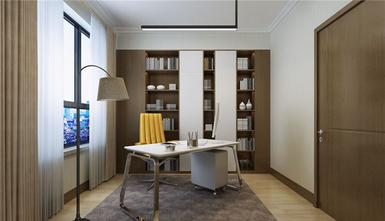 90平米混搭风格书房效果图