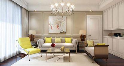 140平米现代简约风格客厅沙发设计图
