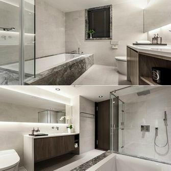 60平米一室两厅现代简约风格卫生间浴室柜效果图