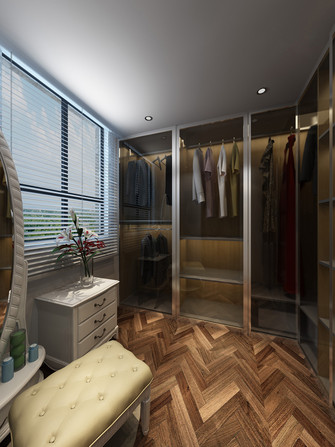 140平米四室两厅现代简约风格衣帽间装修图片大全