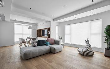 120平米三室两厅日式风格客厅设计图