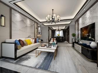 90平米三中式风格客厅图片