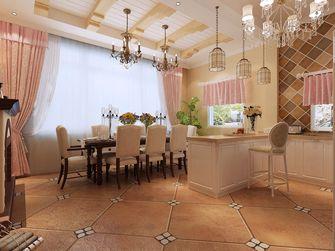 140平米别墅田园风格餐厅效果图