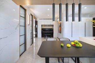 130平米三室三厅现代简约风格餐厅图片