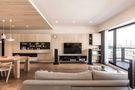 100平米三室两厅日式风格客厅设计图
