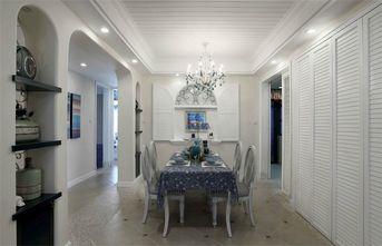 110平米三室三厅田园风格餐厅装修图片大全