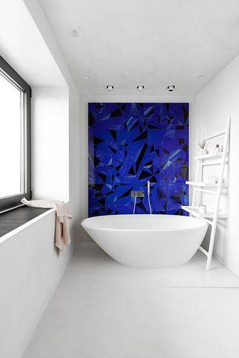 70平米一室一厅中式风格卫生间图