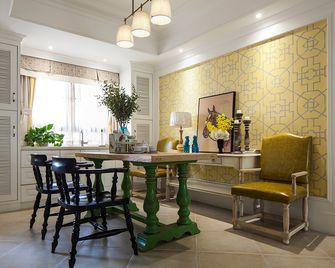140平米四室一厅混搭风格餐厅图