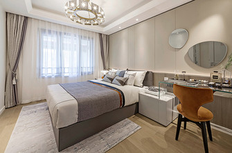 130平米三室两厅英伦风格卧室装修案例