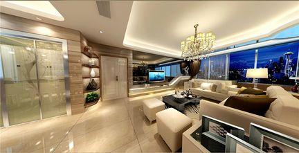 140平米四室三厅现代简约风格客厅图