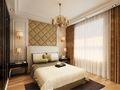 130平米三室两厅欧式风格卧室装修图片大全