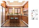 140平米别墅田园风格厨房图